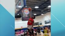 Bronny James lays down first one-handed slam in AAU season