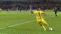 Last gasp halfway line free kick seals victory in Malaysia