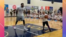Towns shows no mercy on young campers