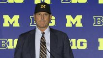 Harbaugh: Players should be able to transfer once without sitting out