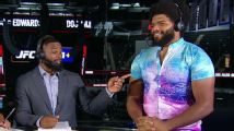 Juan Adams rocks a romper on UFC Pre-Show