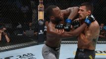 Edwards lands vicious elbow on dos Anjos