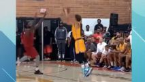 Trae Young rains 3s in Drew League debut