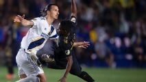 Zlatan Ibrahimovic argues with LAFC assistant after El Trafico