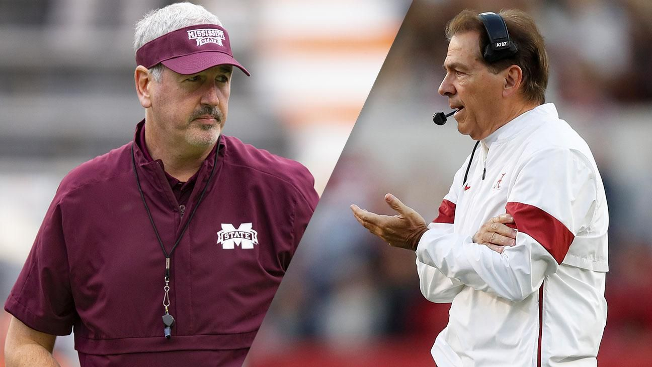 Saban expects a battle vs. Mississippi State