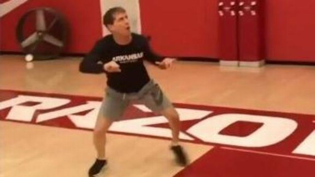 Arkansas coach goes hard in practice, minus his players