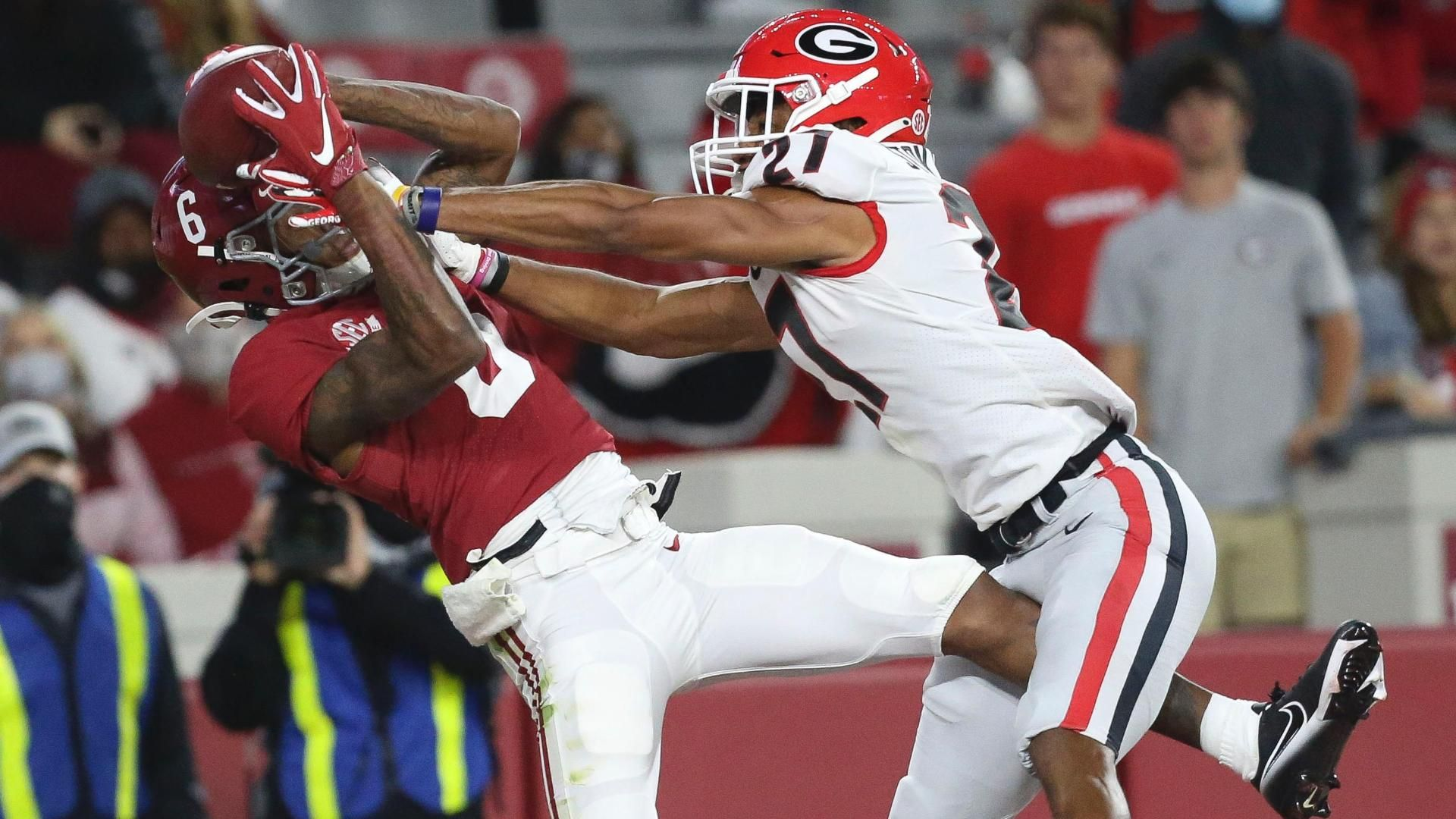 Elite WR play propels No. 2 Bama past No. 3 UGA