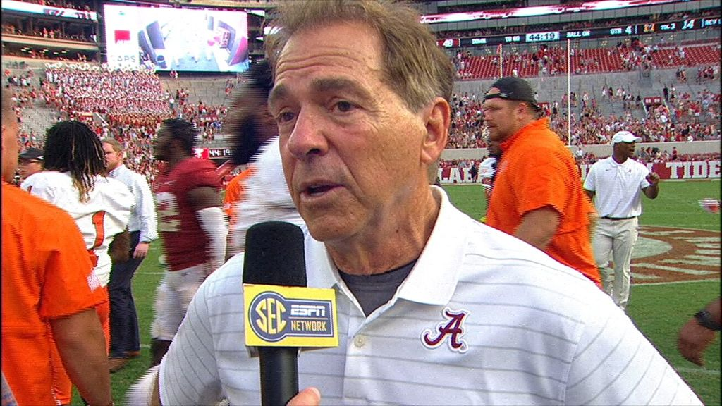 Saban says top-ranked Tide still has work to do