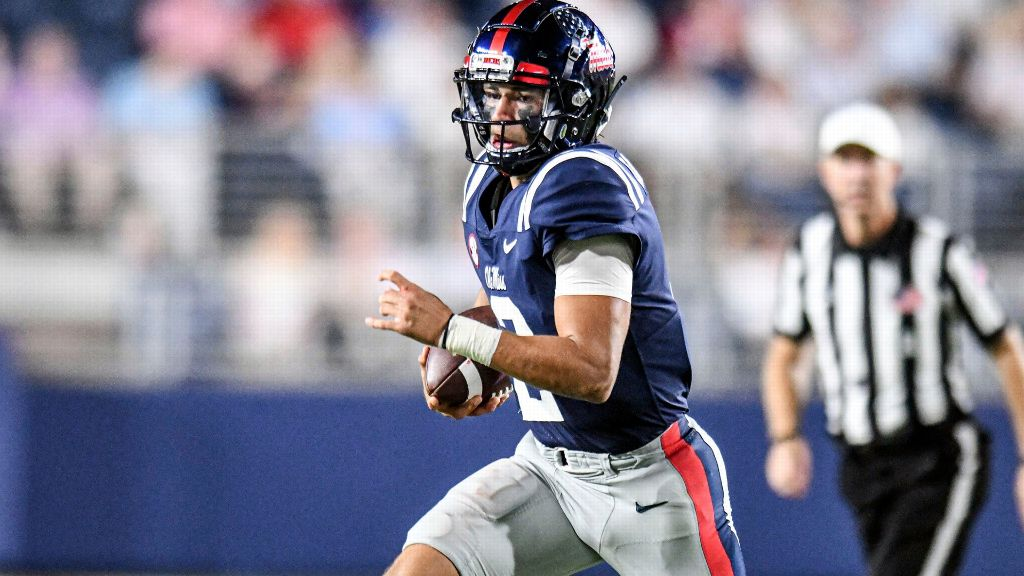 Rebels hammer Austin Peay as Corral throws for 5 TDs