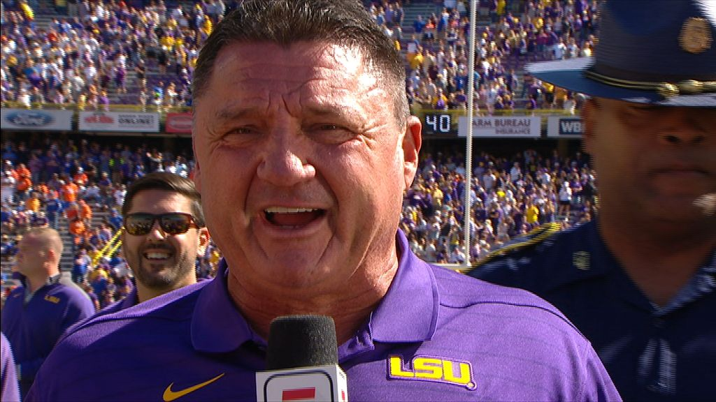 Orgeron says LSU showed a lot of fight in win over UF
