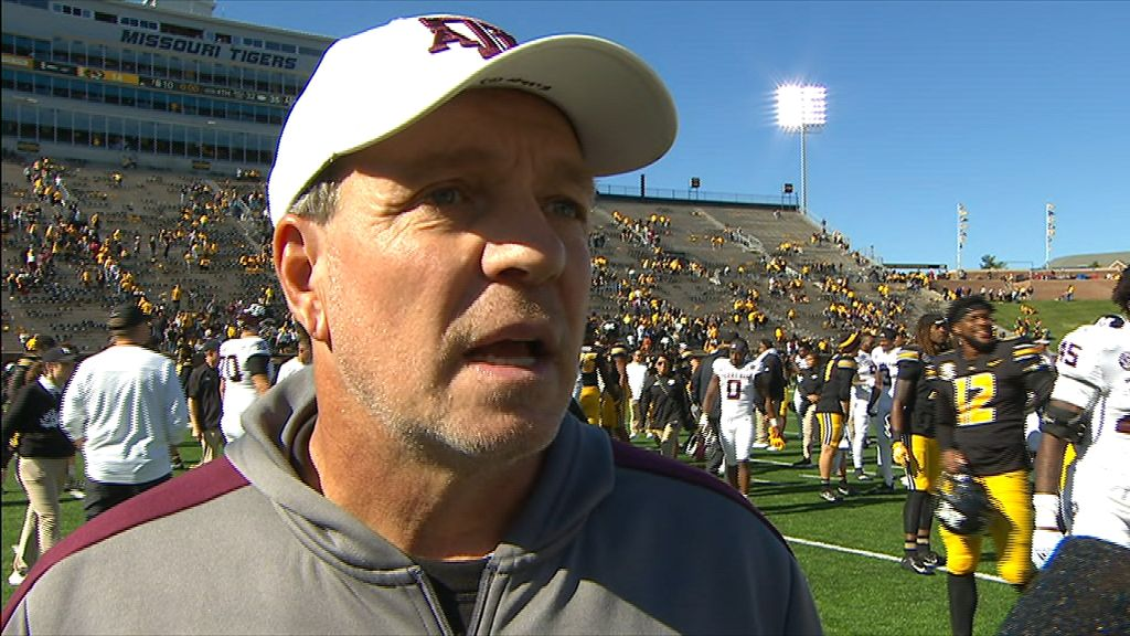Fisher likes how dynamic Aggies were rushing the ball