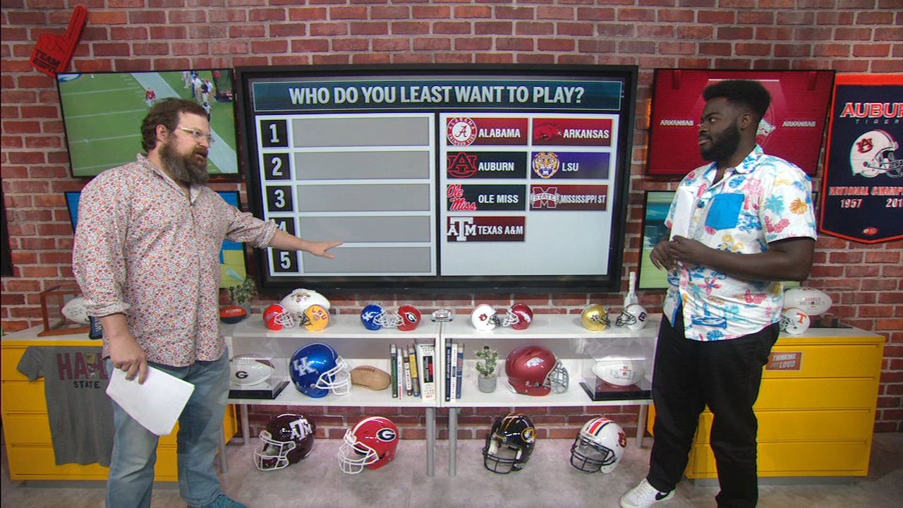 Which SEC team would you want to play the least?