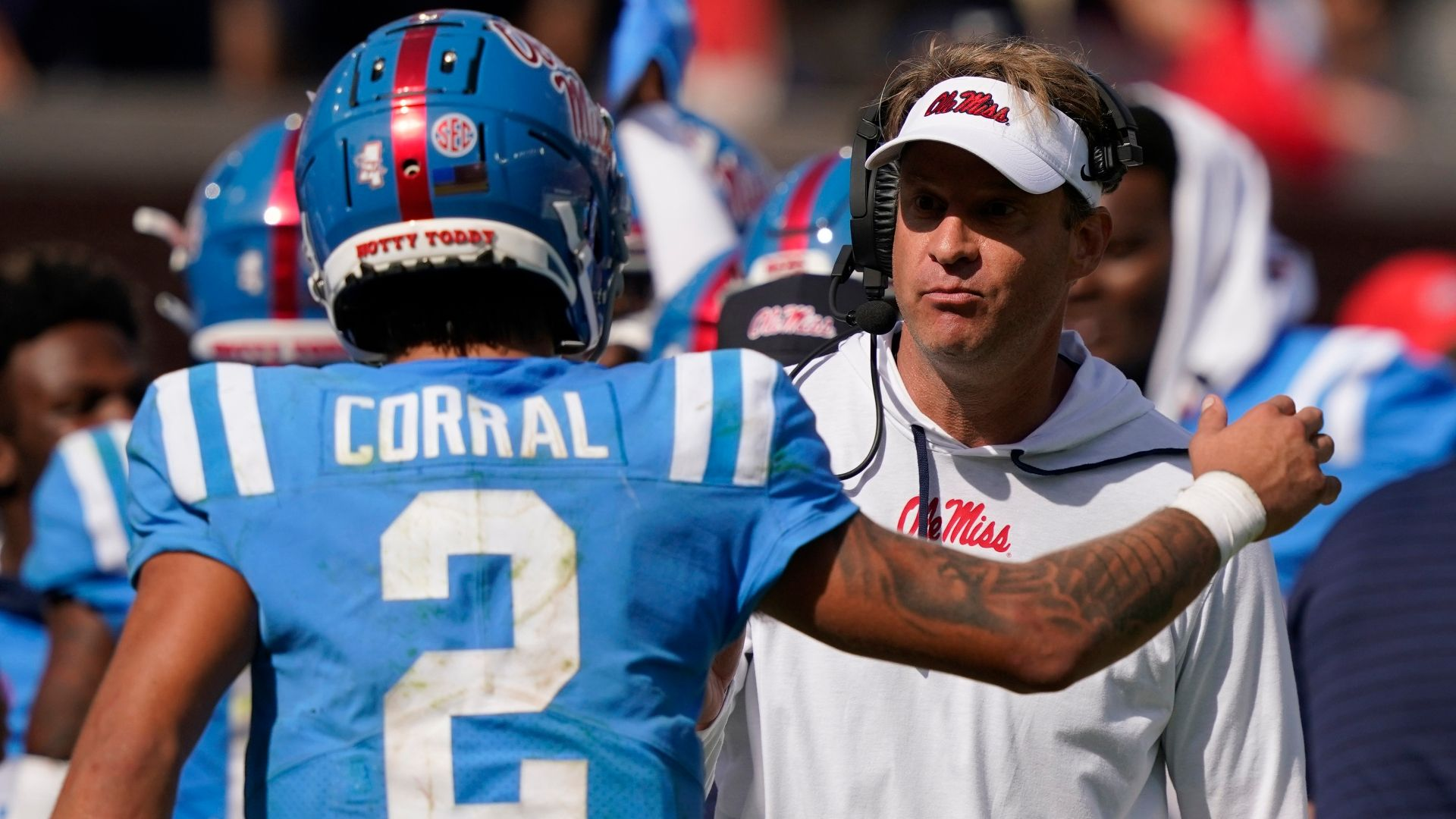 Kiffin believes penalties are holding the Rebels back