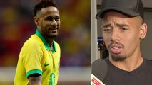 Gabriel Jesus comes to the defense of Neymar