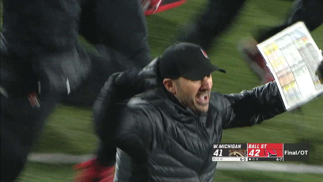 Ball State beats Western Michigan 42-41 in OT