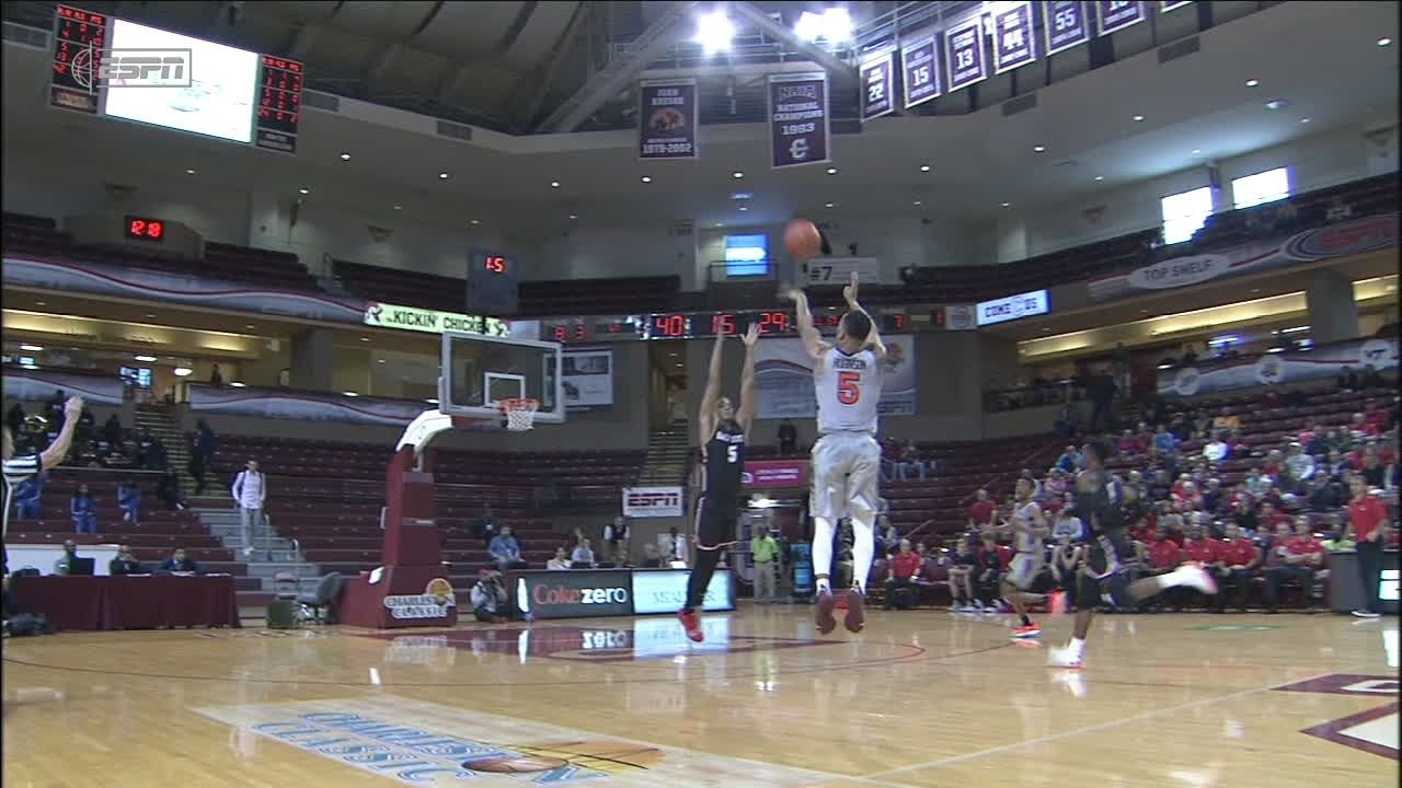Virginia Tech's Robinson launches deep buzzer-beating 3-pointer