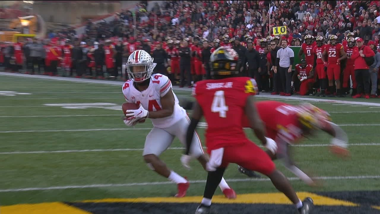Game-tying TD ties Haskins for Buckeyes' TD record