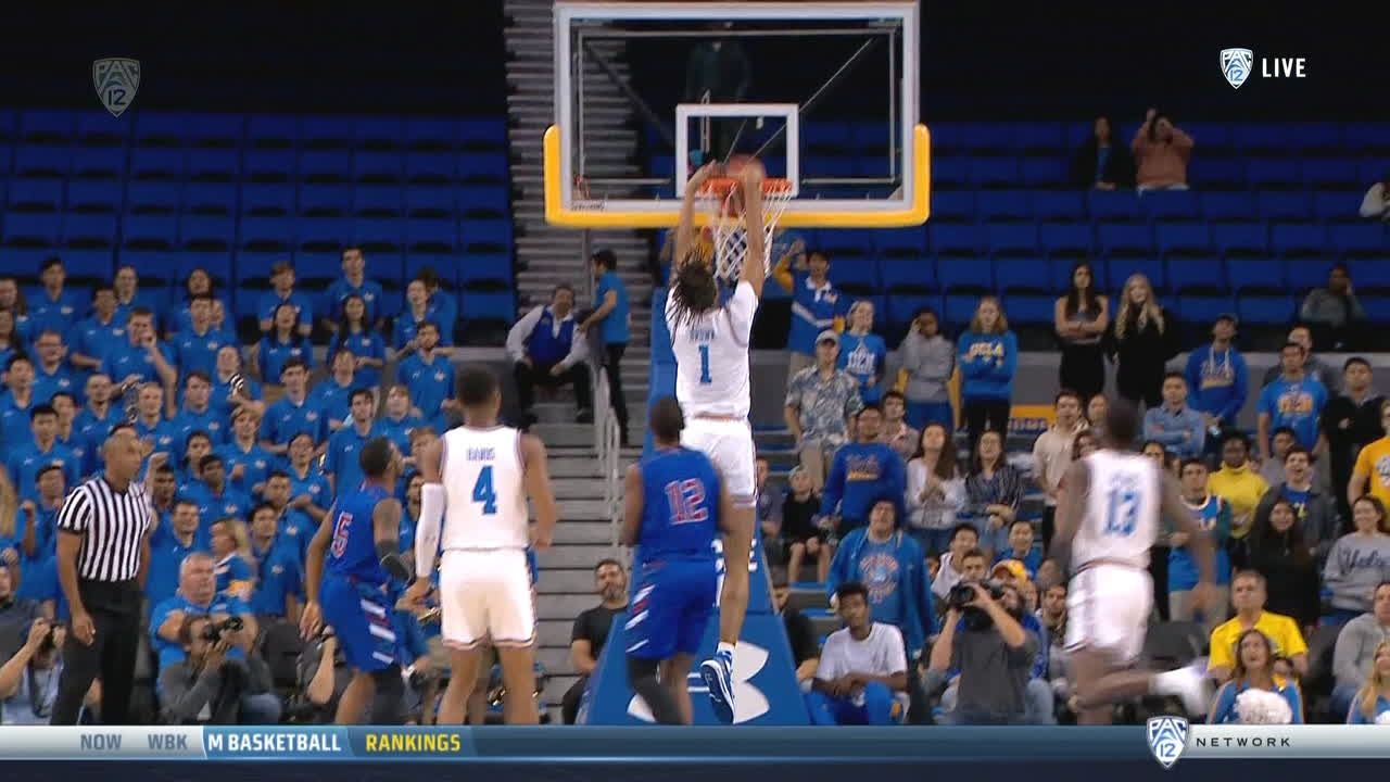 UCLA's Brown begins the night with a slam