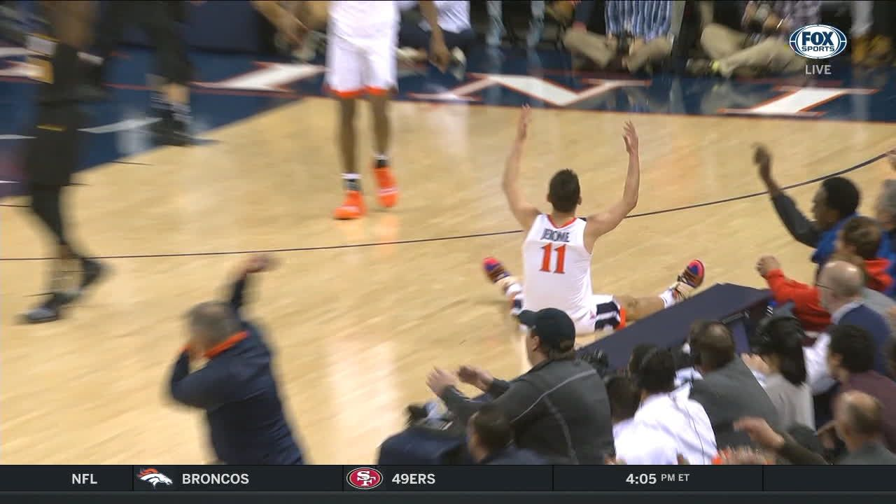 Ty Jerome made Three Point Jumper. Assisted by Kihei Clark.