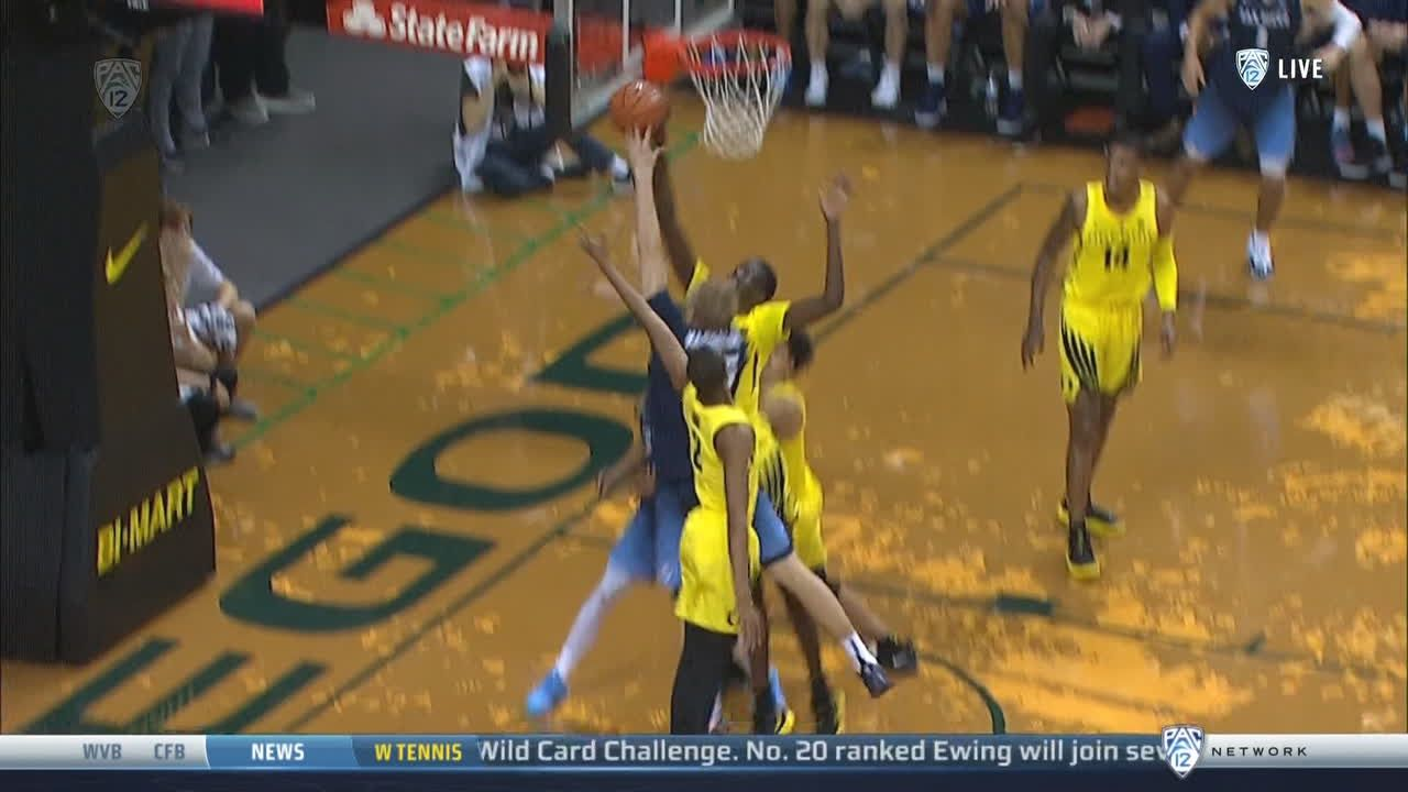 Bol stuffs then saves ball to give Oregon possession