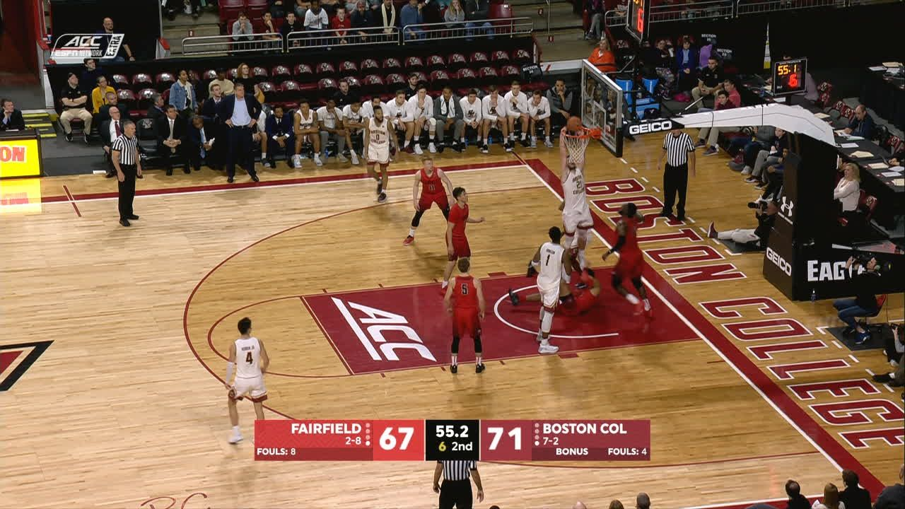 Herren, Tabbs step up, carry BC past Fairfield 77-67