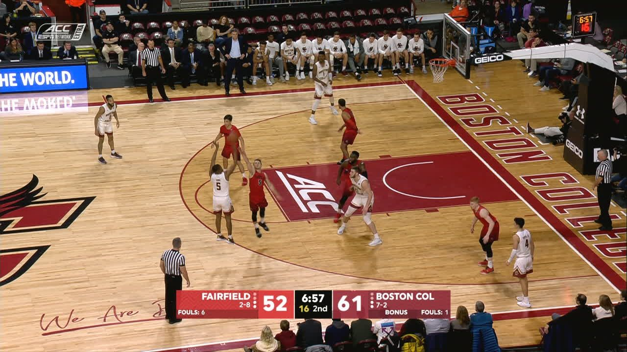 Tabbs extends BC lead with 3-pointer