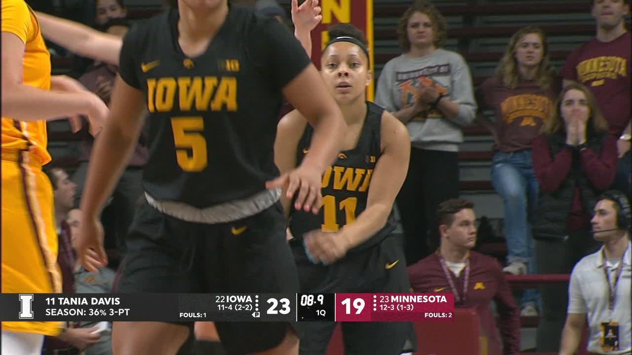 Gustafson's 34 points, 13 boards lead No. 17 Iowa women