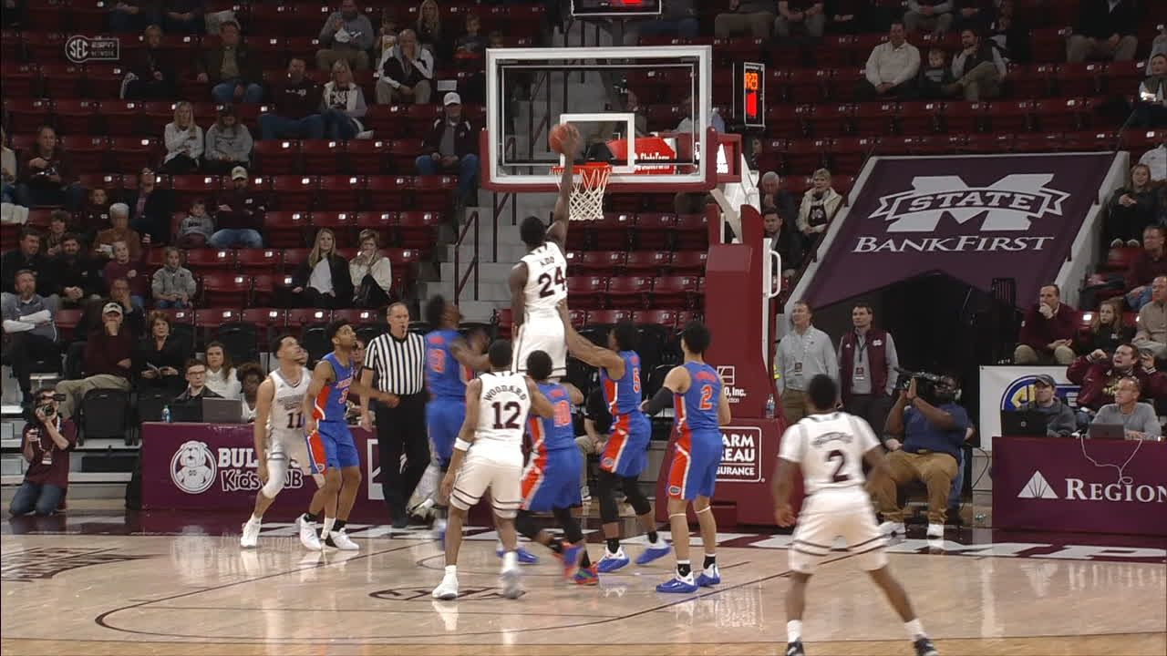 Mississippi State's Ado opens scoring with a dunk