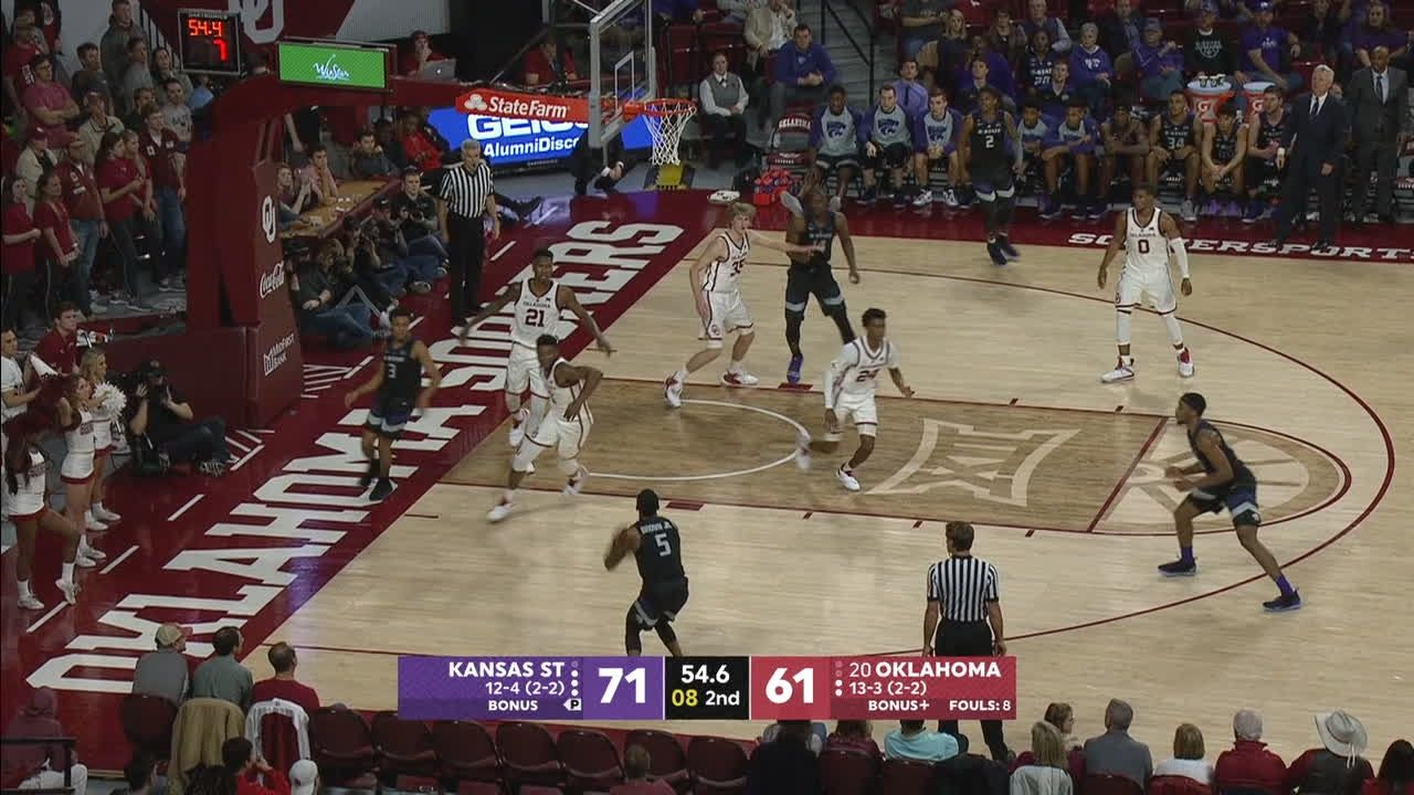 Brown Jr. hits another 3 to close out the upset over Oklahoma