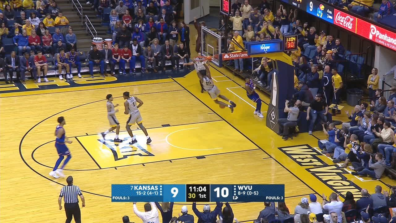 West flushes the transition dunk