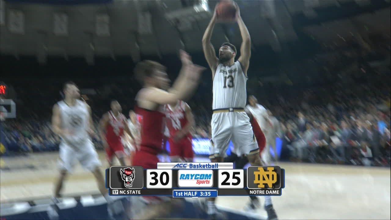 Djogo drives and dunks for Notre Dame