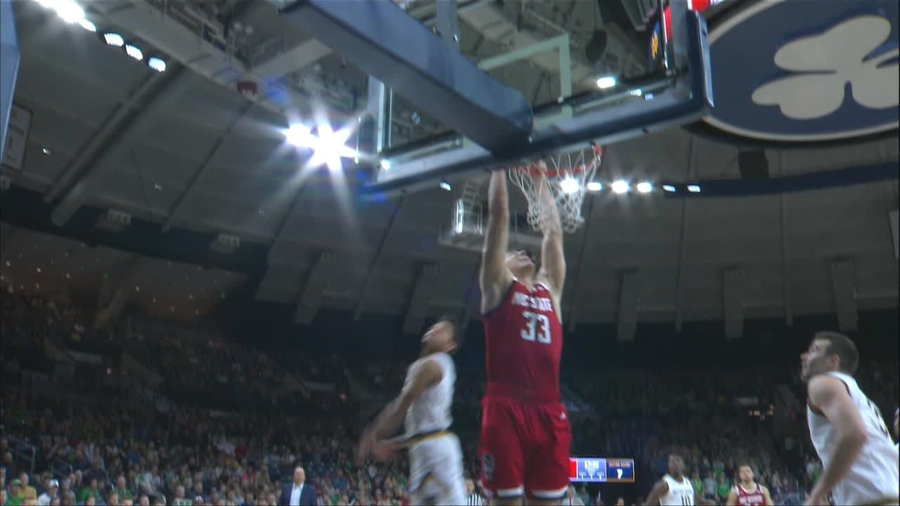NC State's Beverly feeds Walker for two-handed jam