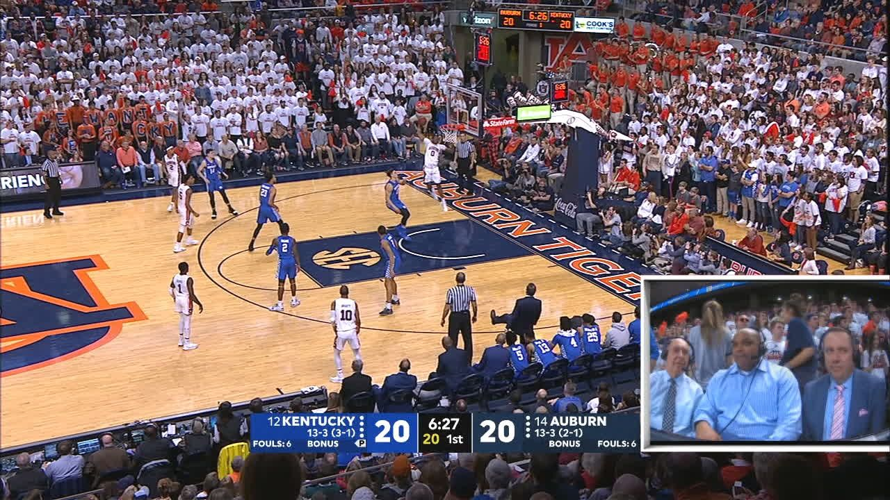 Auburn and Kentucky go back to back with big dunks