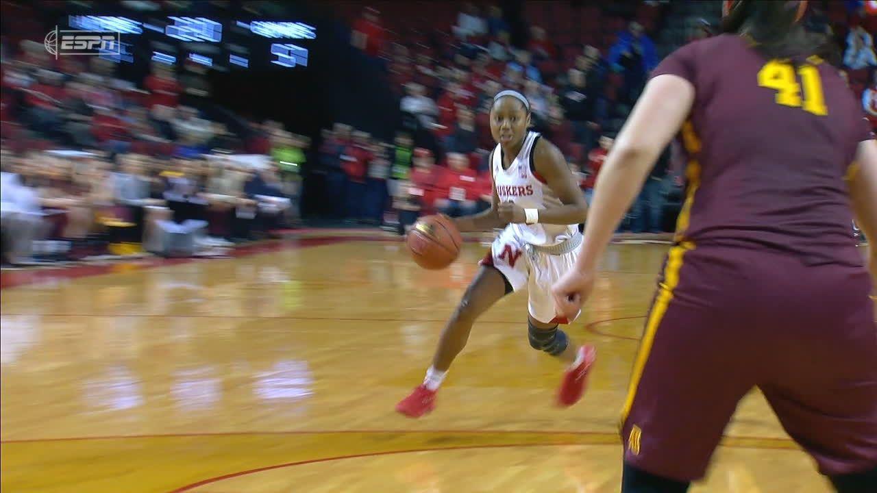 Whitish, late run lead Nebraska women past No. 23 Minnesota