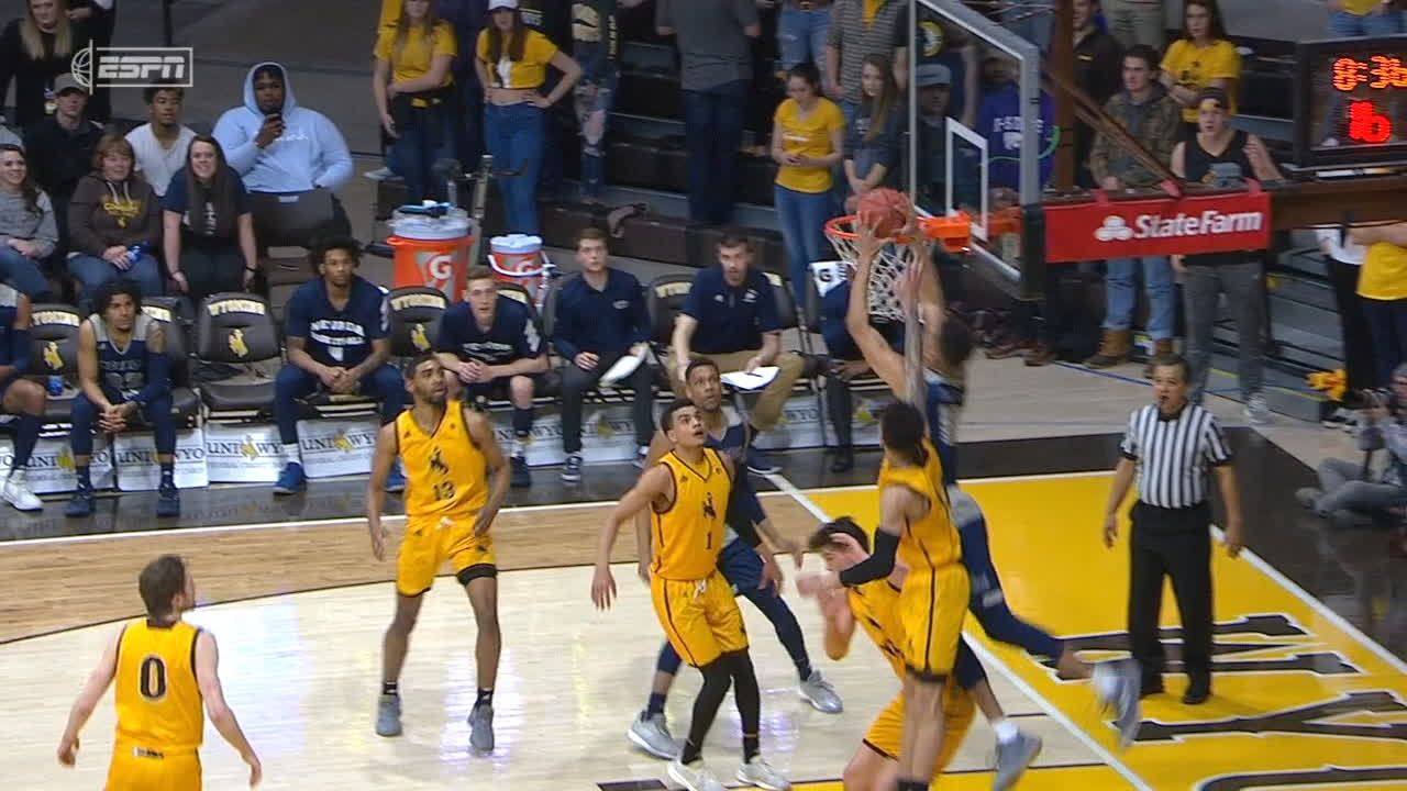 Porter finishes alley-oop over two Wyoming players