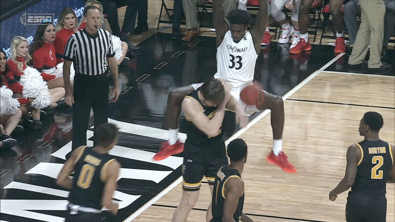 Brooks throws it down on a Wichita State defender