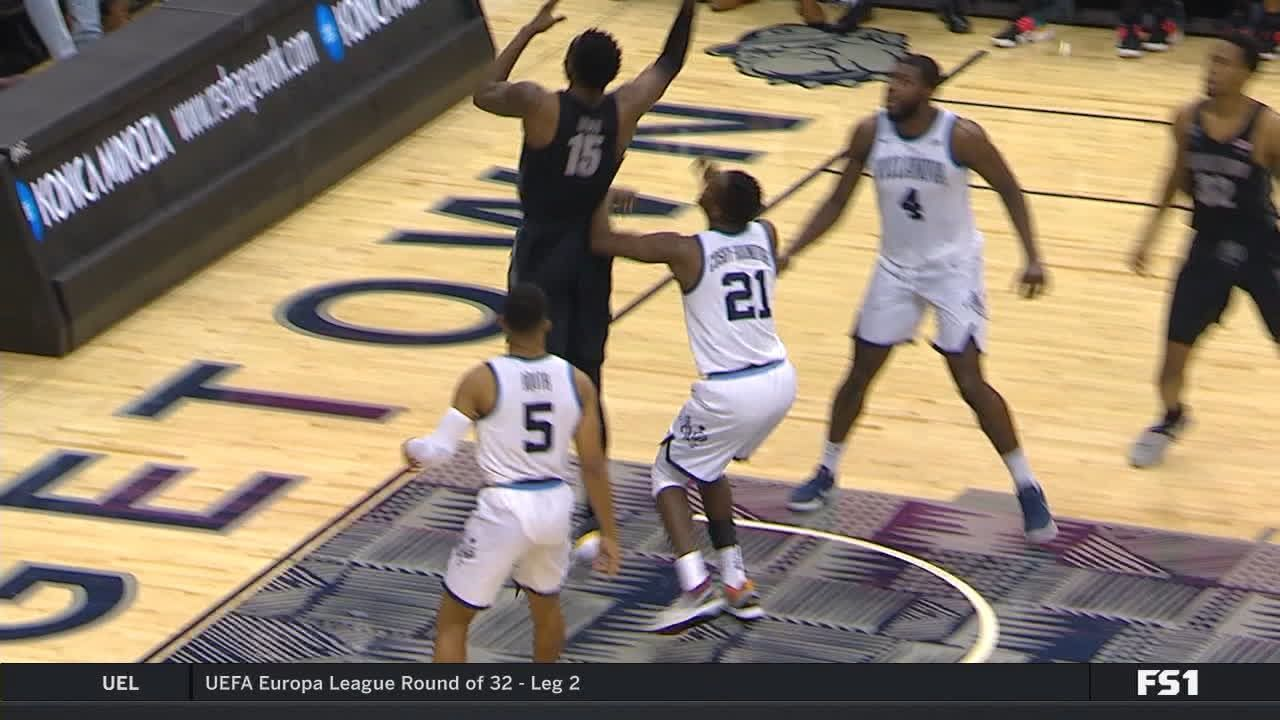 Govan muscles through contact for and-1