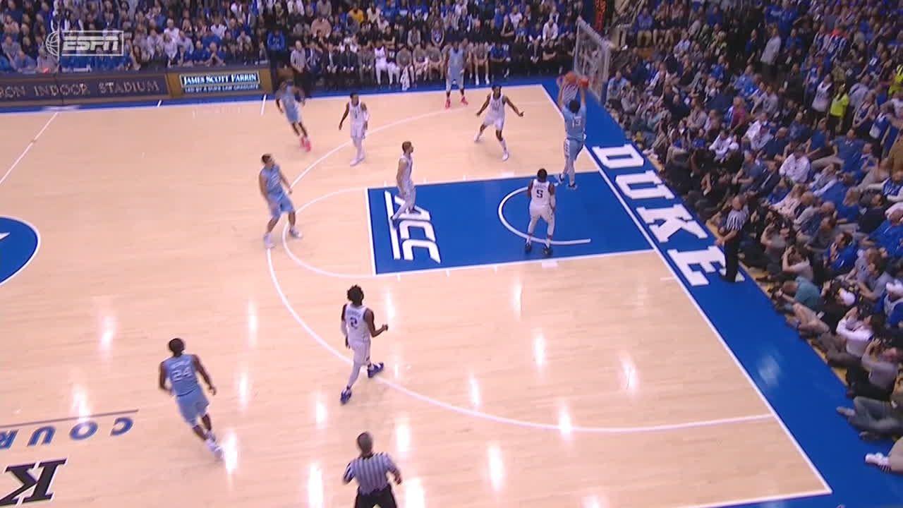 Johnson slips through for easy dunk