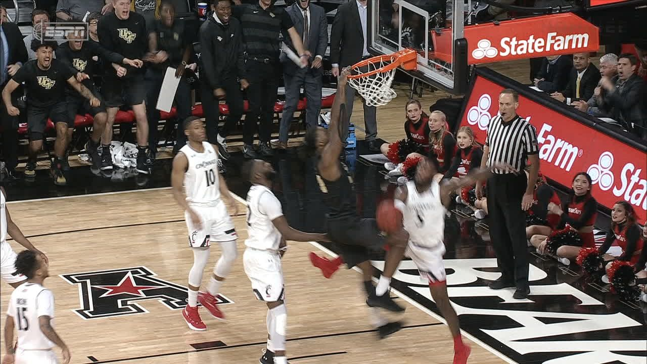 UCF's Brown hammers down poster dunk