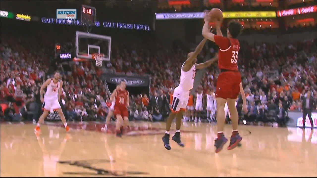 Nwora hits from way downtown to beat first-half buzzer
