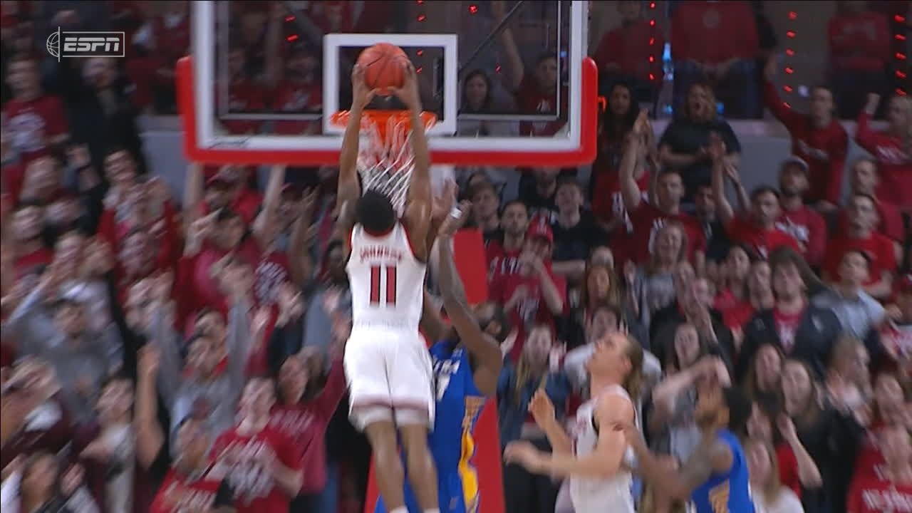 Johnson skies for nasty putback slam