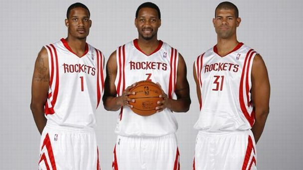 Trevor Ariza, Tracy McGrady, Shane Battier