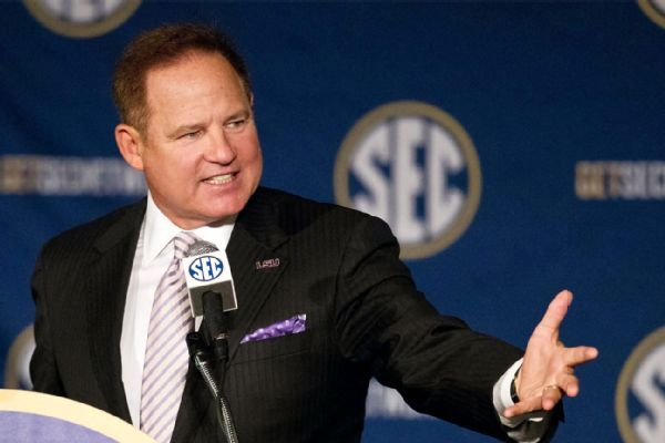 Les Miles hired as Kansas coach