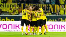 Mkhitaryan hat trick seals Dortmund's Europa League win over Wolfsberger