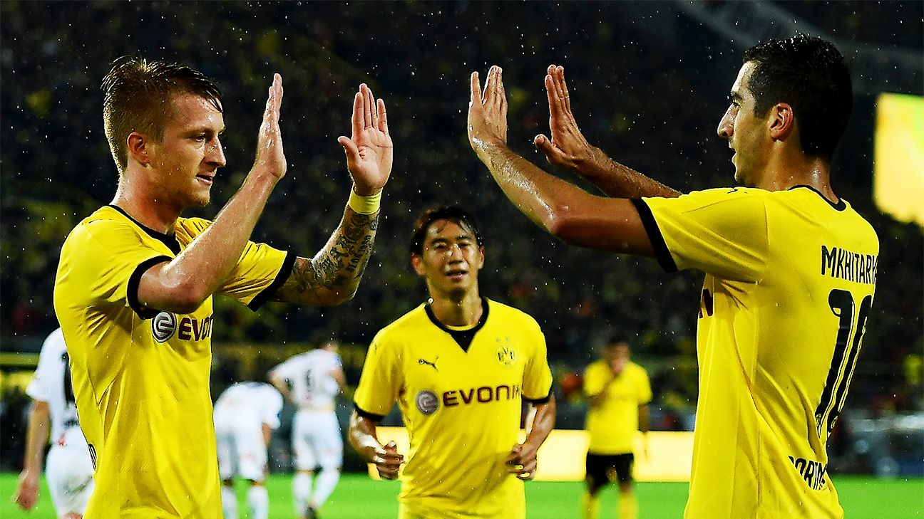 Marco Reus hits hat trick as Dortmund destroy Odds, advance to group stage