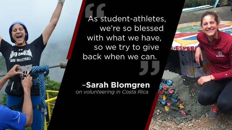 Blomgren spends summer in service