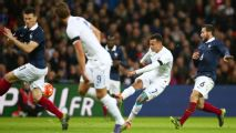 France play on after Paris attacks but lose friendly against England