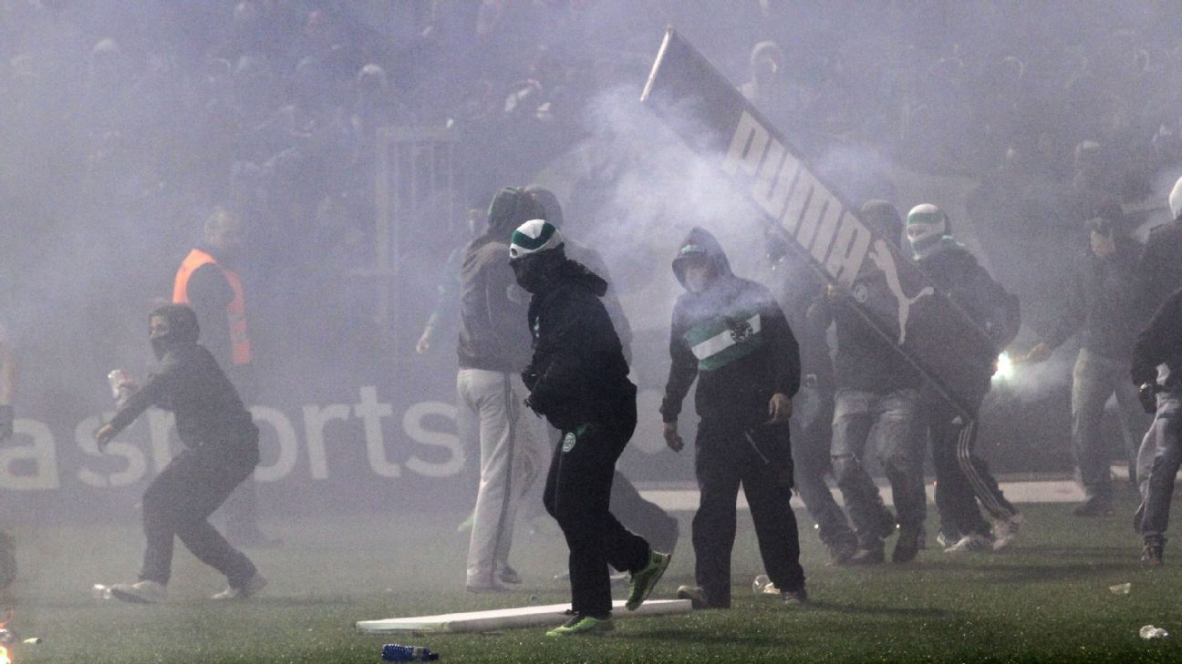 Greek Cup canceled by government after violence in semifinal