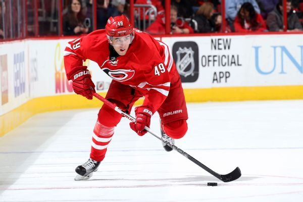 Hurricanes' Victor Rask back after surgery for knife accident