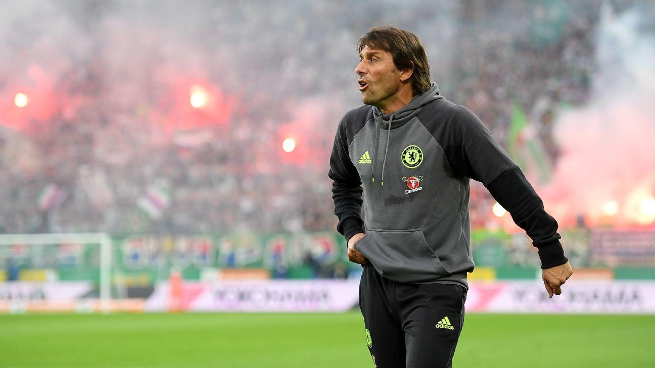 Chelsea lose 2-0 at Rapid Vienna in Antonio Conte's managerial debut